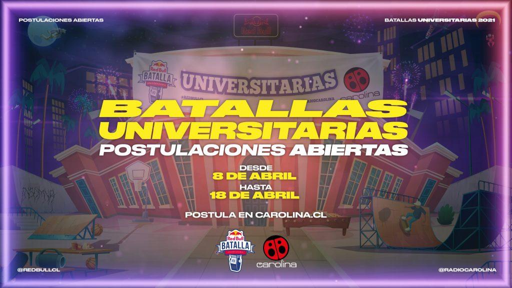 Inscríbete aquí: Radio Carolina abre las postulaciones de Red Bull Batalla Universitaria 2021