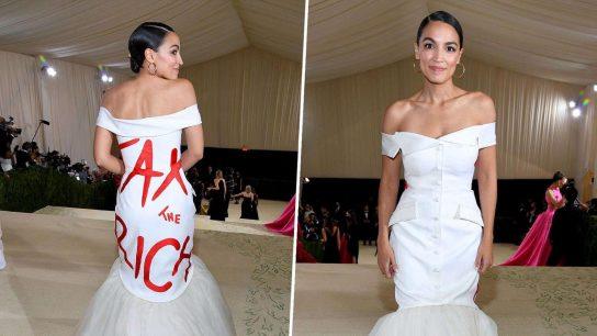 'Tax the rich': El comentado vestido de Alexandria Ocasio-Cortez en la Met Gala
