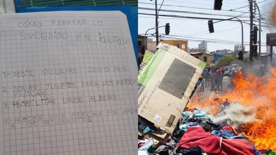 Iquique: Niña de 8 años da el ejemplo al proponer cómo reparar lo sucedido con una nota