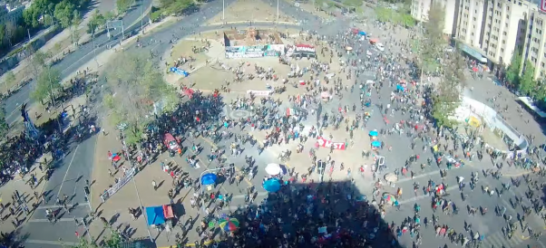 18 de octubre: Revisa en vivo cómo se encuentra la Plaza Baquedano