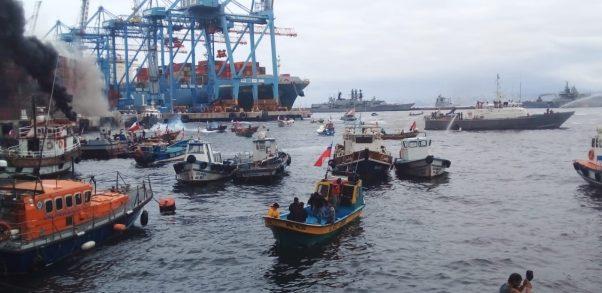 Valparaíso: Pescadores resultan heridos tras protestas en el puerto