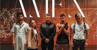 """La familia Montaner en pleno y Camilo celebran la Navidad con el estreno de """"Amén"""""""