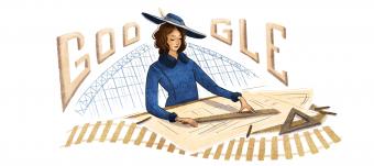 Mujer que abrió caminos: Google homenajea con un doodle a Justicia Espada, primer Ingeniera Civil chilena