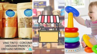 Kioskito Romántica: Sal de mar, artículos para bebés y pastelería en la vitrina de jueves