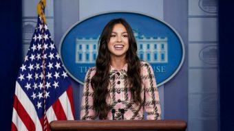 Olivia Rodrigo visitó la Casa Blanca para motivar la vacunación entre los más jóvenes
