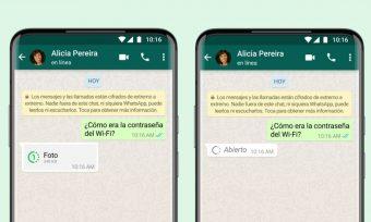 """""""Visualización única"""": Nueva función de Whatsapp permite enviar fotos que se ven una vez y se borran"""