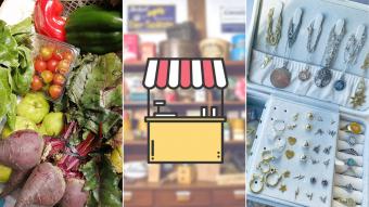 Kioskito Romántica: Verduras frescas, joyas y ropa infantil en la vitrina de lunes