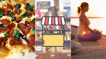 Kioskito Romántica: Yoga, pizzas y regalos en la vitrina de jueves