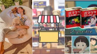 Kioskito Romántica: Dulces y snacks asiáticos, puffs y decoración en la vitrina de viernes